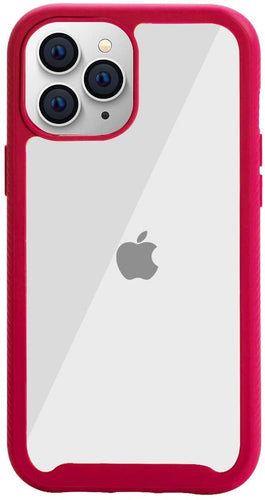 AICase Clear Anti-Slip Hybrid Colorful TPU Bumper Hard PC Transparent Protective Case for iPhone 12 or 12 Pro