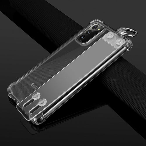 Samsung Galaxy S20 Ultra Clear TPU Shockproof Phone Stand Cover Case
