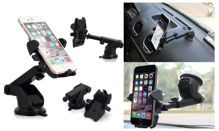 Car Holder Windshield Mount Bracket for Mobile CellPhone or GPS