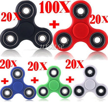 Load image into Gallery viewer, 100X HAND SPINNER TRI FIDGET STEEL BALL DESK TOY EDC FINGER GYRO FOR KIDS ADULT