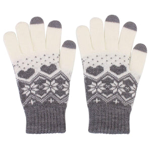 AICase Touch screen Gloves Cashmere Winter Warm Thick Knit
