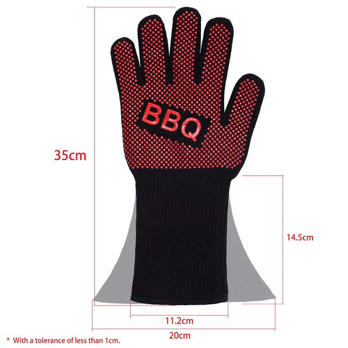 BBQ Gloves Extreme Heat Resistant for Barbecue Grilling Cooking Fireplace XL