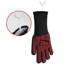 Load image into Gallery viewer, BBQ Gloves Extreme Heat Resistant for Barbecue Grilling Cooking Fireplace XL