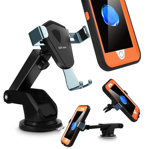 Car Phone Mount Dashboard & Windshield Holder Strong Sticky Auto Lock/Release Included Air Vent