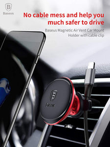 Air Vent Phone Holder,Baseus Universal Car Air Vent Magnetic Suction Bracket Mount Stand