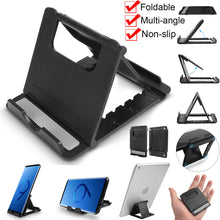 Load image into Gallery viewer, Universal Foldable Multi-angle Cell Phone Desk Stand Tablet Holder Mount Cradle