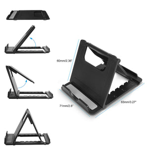Universal Foldable Multi-angle Cell Phone Desk Stand Tablet Holder Mount Cradle