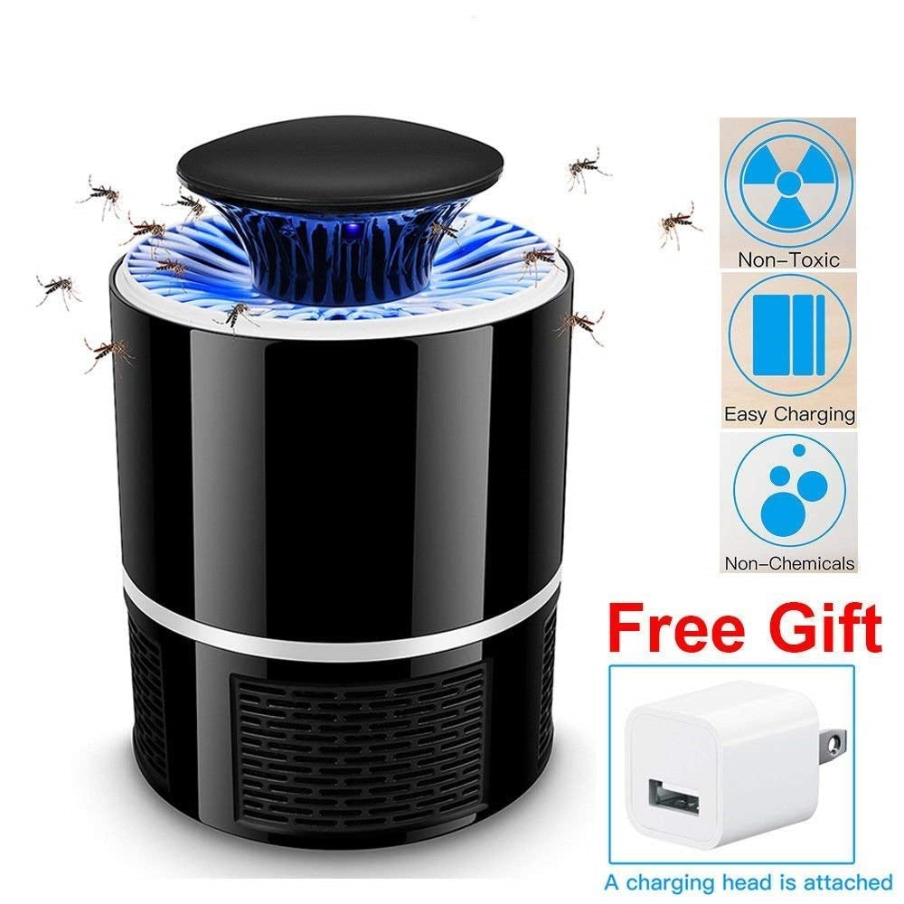 AICase Electric Mosquito Killer with Trap Lamp, Chemical-free USB Powered UV LED Light