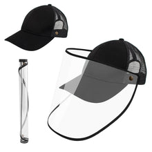 Load image into Gallery viewer, Anti-Saliva Splash Dust Proof Cap Full Face Shield Safety Protection Clear Hat