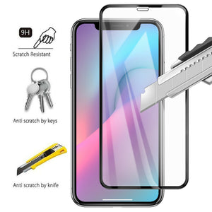 iPhone 11 or iPhone 12 10D Full Cover Tempered Glass Screen Protector