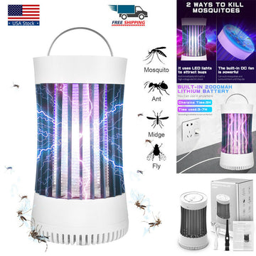Electric Shock Fly Bug Zapper Mosquito Insect Killer Lamp UV LED Light Pest Trap