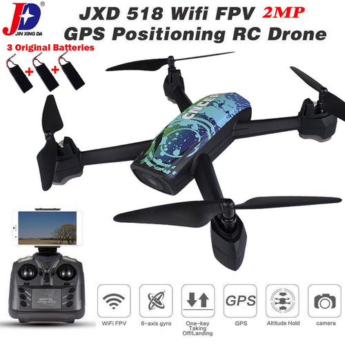 JXD 518 RC WIFI FPV Quadcopter GPS 720P HD Camera Realtime Headless Mode Drone