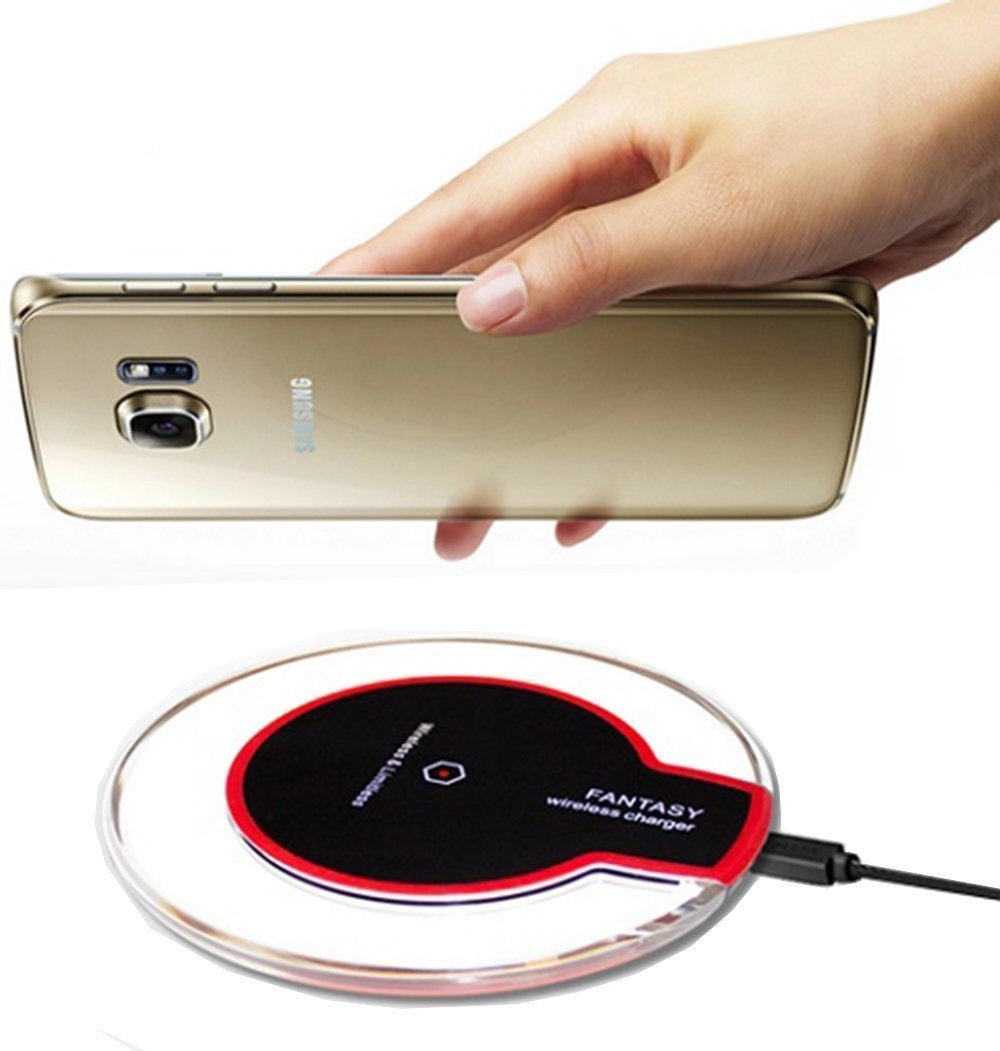 Qi Wireless Charger for iPhone and Samsung Red