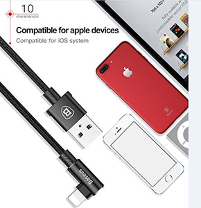 Baseus Lightning to USB Cable for iPhone iPad Black