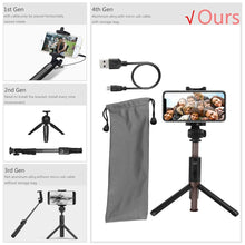 Load image into Gallery viewer, Extendable Selfie Stick with Wireless Bluetooth Remote and Tripod Stand