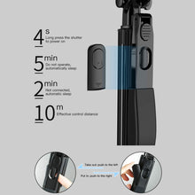 Load image into Gallery viewer, AICase A21 Telescoping Selfie Stick Bluetooth Lightweight All in One Extendable Selfie Sticks Compact Design for All Phones