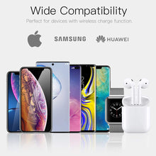 Load image into Gallery viewer, AICase Qi Wireless Charger,3-in-1 Charging Pad,Multiple Devices Wireless Charger Dock for Air Pods iWatch iPhone