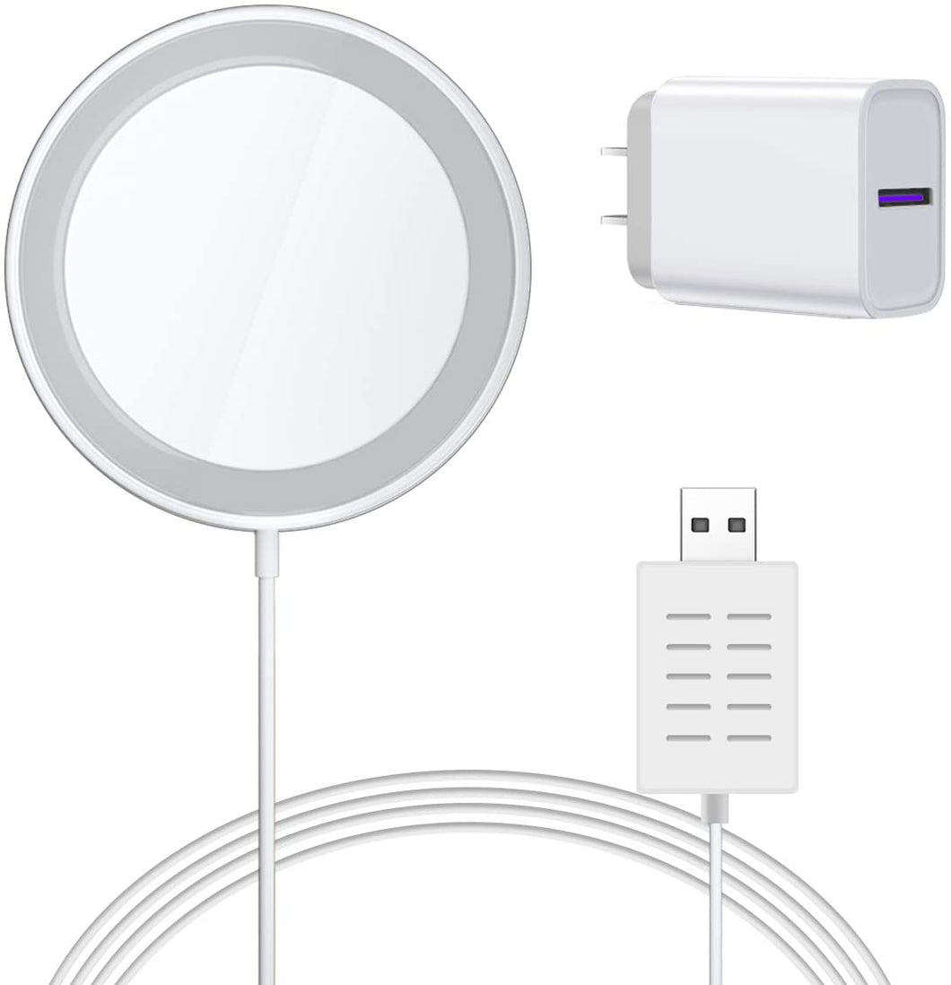 AICase Wireless Charger for iPhone and Galaxy Compatible with MagSafe Magnetic Charger