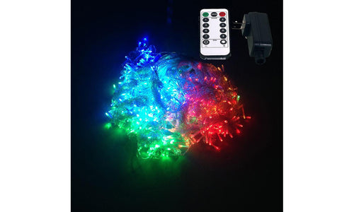 10Ft. 300-LED String Curtain Lights with Remote Control