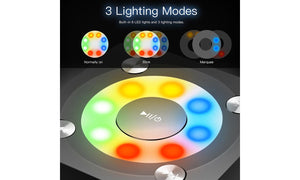LED lights Wireless Speaker HD Bluetooth 4.2 for iphone/ipad/Tablet/Laptop