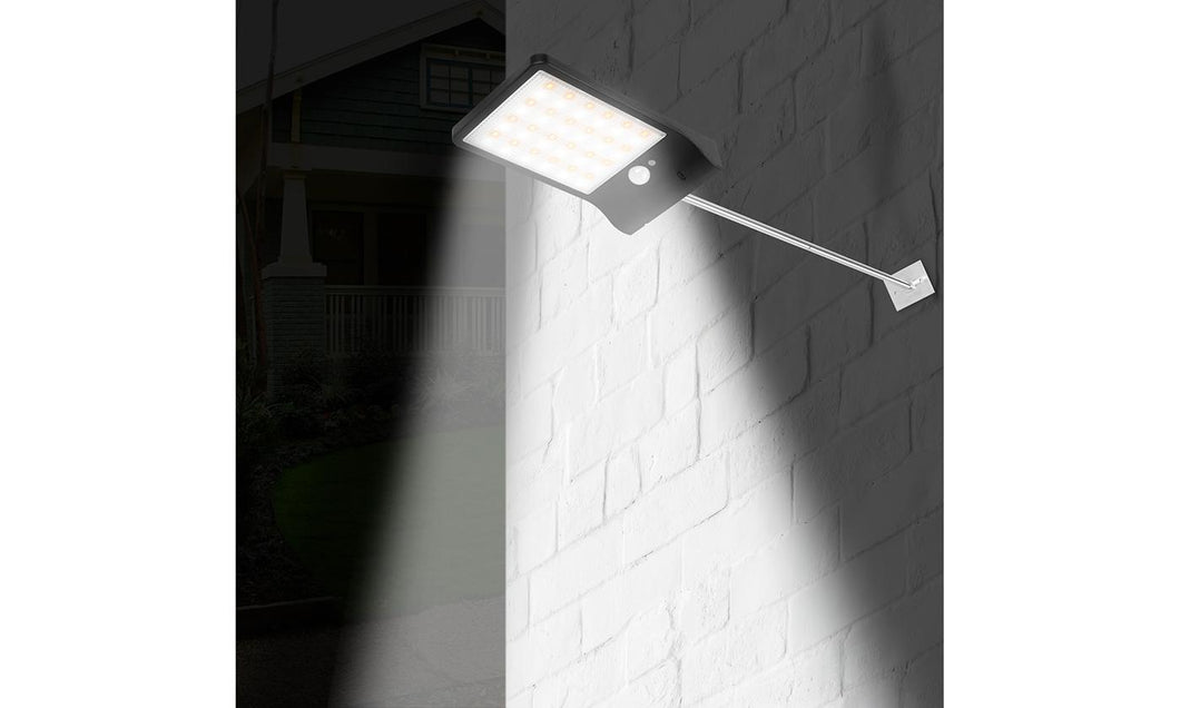 Waterproof Energy Saving Solar Wall Light Three Modes Induction Remote Control