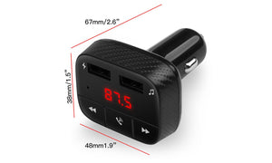 Bluetooth FM Transmitter MP3 Player USB Charger 2.4A Dual USB Car Charger