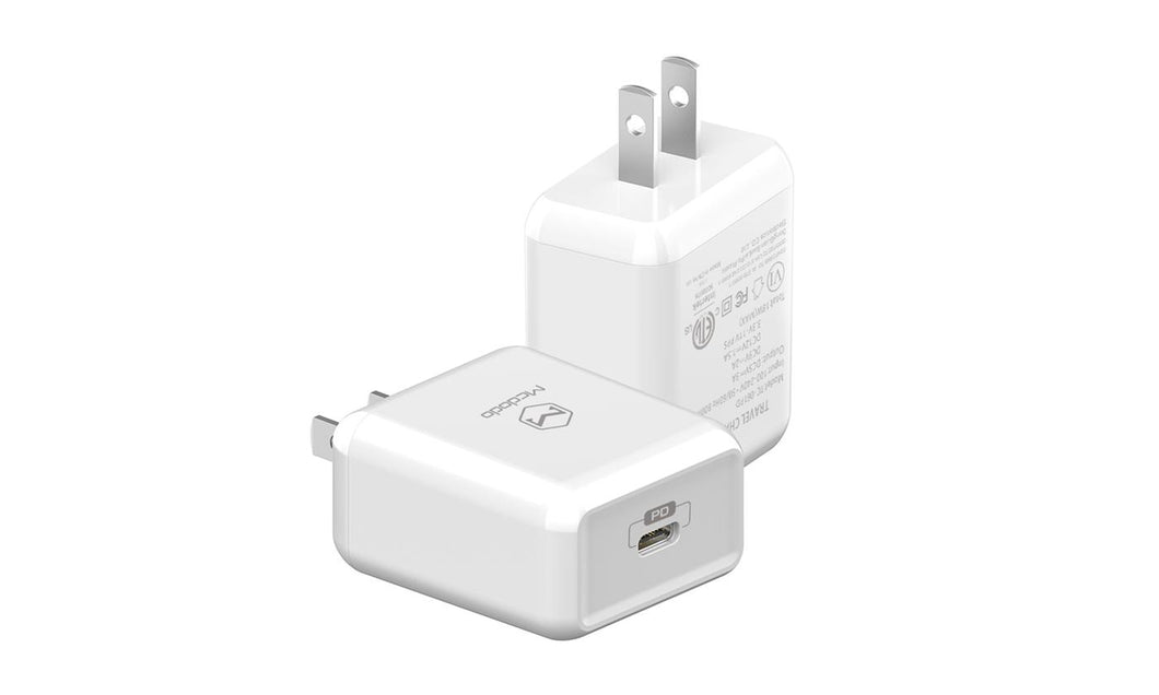 Mcdodo PD Fast Charger Adapter 18W US Regulations Safe and Efficient