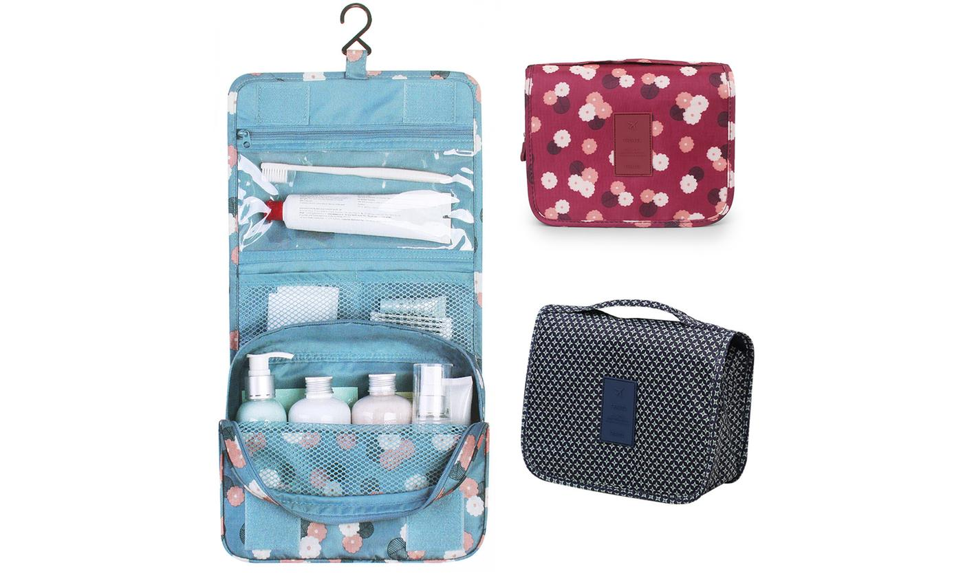 Waterproof Handing Toiletry Bag Travel Cosmetic Storage Essentials Organizer