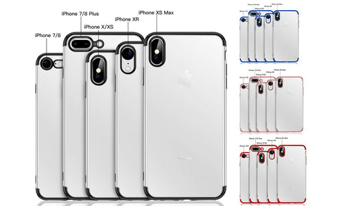 Slim Case TPU Shockproof Transparent Case For iPhone 7/8/7 8 Plus/XS/XS Max/XR/X