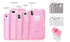 4 in 1 Case With Clip Shockproof For iPhone6/6S7/8/6 6S 7 8 Plus/X/XS/XR/Xs Max