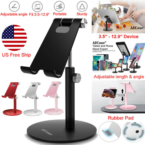 AICase Aluminum Desktop Desk Stand iPad Tablet iPhone Samsung LG Mount Holder