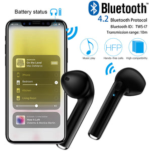 Dual Wireless Bluetooth Earphones Earbuds for Apple Airpods iPhone IOS Android