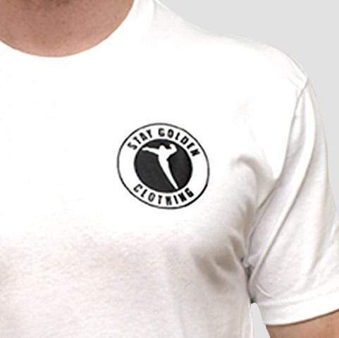 Badge Fitted T-Shirt - Stay Golden Clothing