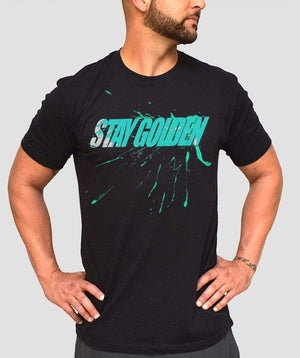 Splatter Fitted T-Shirt - Stay Golden Clothing