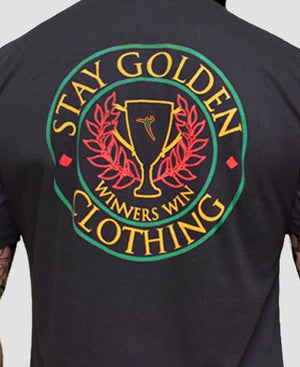 Winners Win Fitted T-Shirt - Stay Golden Clothing