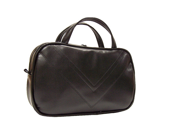 Airliner Bag, large - Black vegan leather