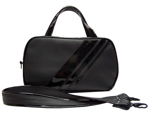 Airliner Bag, large - Blk diagonal stripes