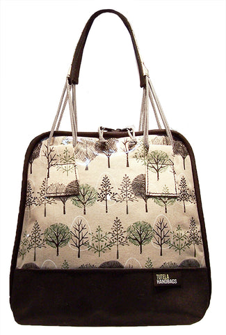 Small Bowler Bag in Trees