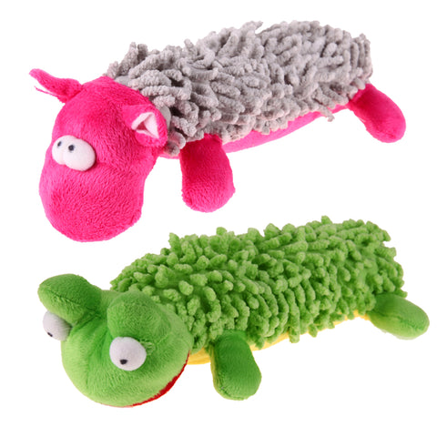 KIMHOME PET Long Shape Frog Chew Toy