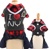 SYDZSW I Love New York Jumpsuit or Dress Fashion Plaid Out Fit