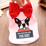 DRESSPET New York Pug Shot Bow Dress