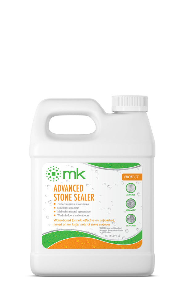 MK Advanced Stone Sealer | Marble, Granite, Tile & Grout Sealer | Seal Against Stains, Dirt & Grease