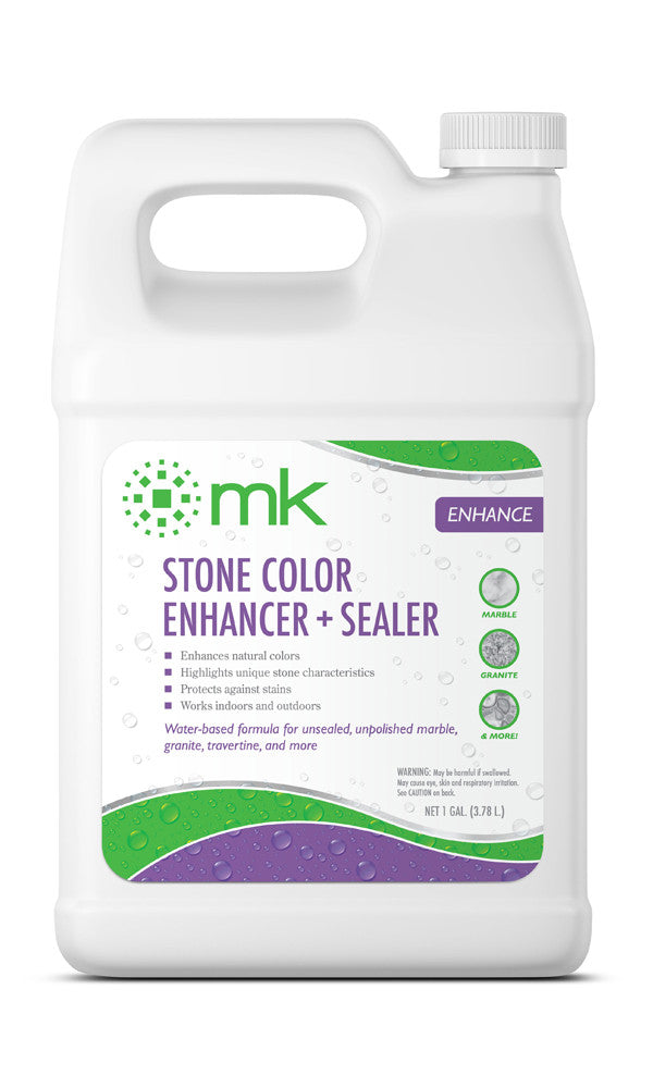 MK Stone Color Enhancer + Sealer | Color Enhancer for Natural Stone | Enhance Color and Texture of Floors, Walls & Countertops