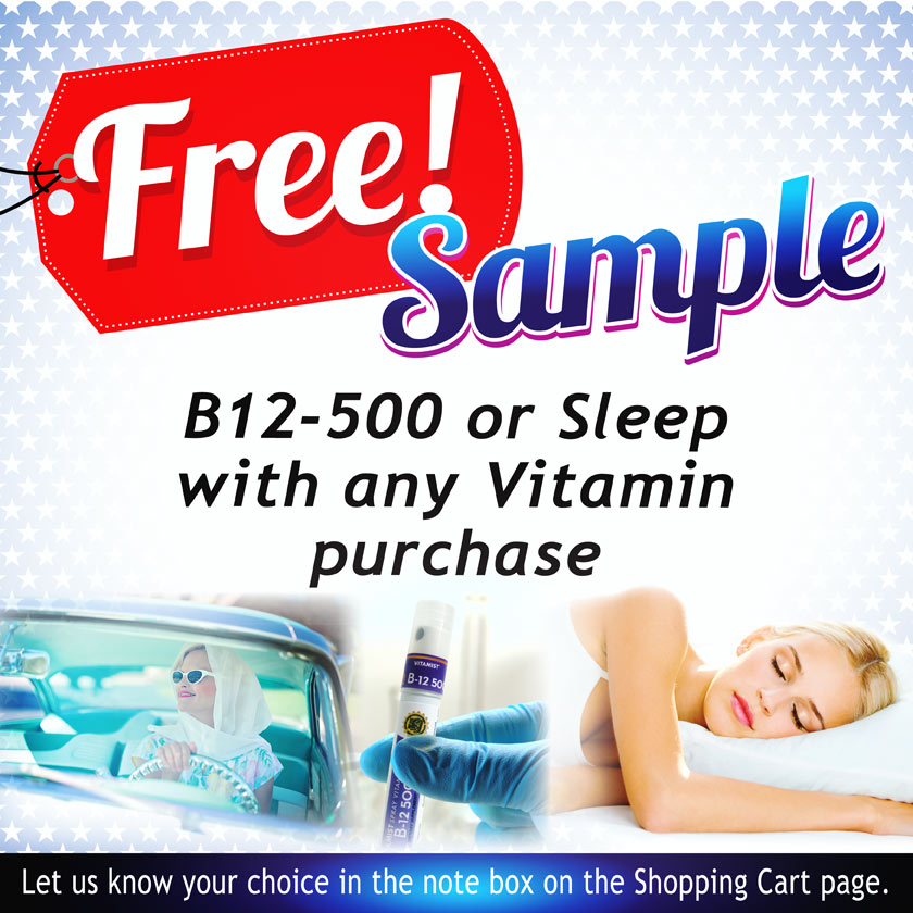 Free sample product with order