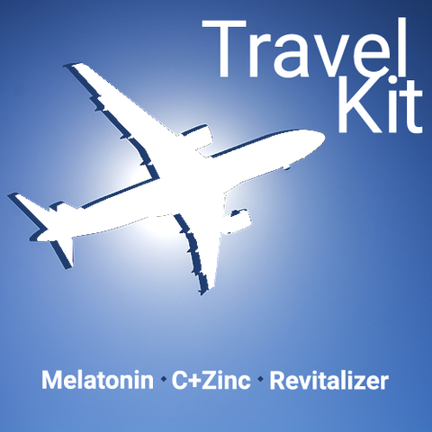 Travel Kit Supplement Spray Stack with Melatonin, Revitalizer, and C+Zinc