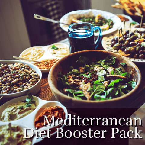 Mediterranean Diet Booster Pack- Includes Iron, C+Zinc, Osteo-CalMag, and Vitamin D
