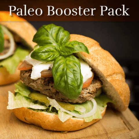 Paleo Diet Booster Pack- Includes Vitamin D,  Osteo-CalMag, Folacin, Iron, and Omega
