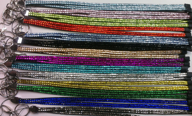Colored Crystal Lanyard