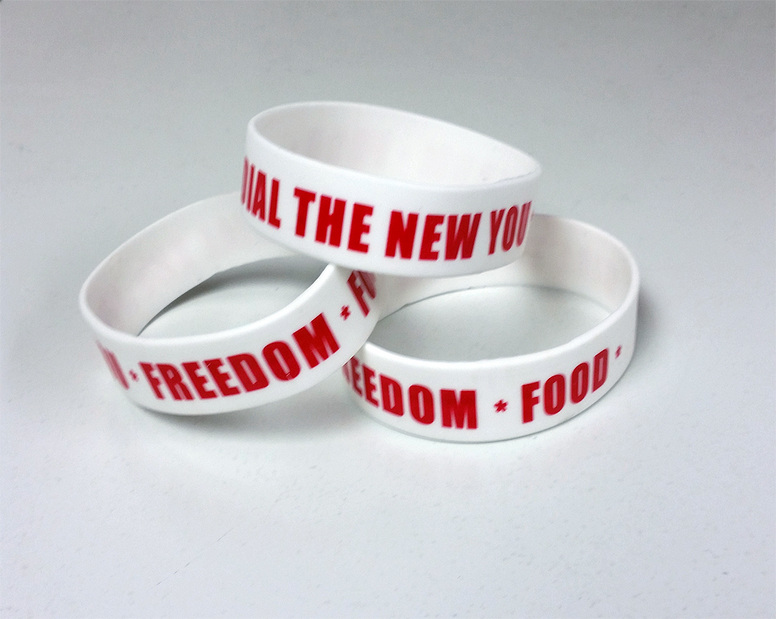 "Wristband ""Dial The New You"""
