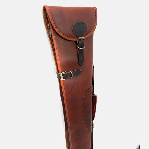 Burgundy Leather Shotgun Slip